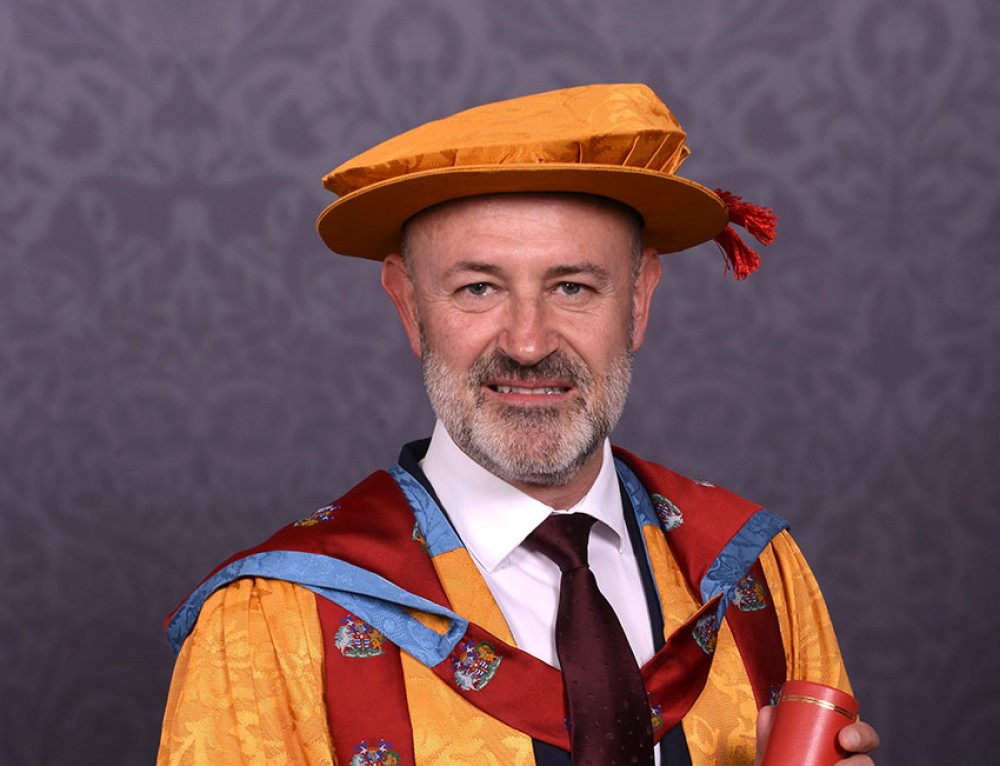 Alumnus and brand guru Jez Frampton receives honorary doctorate